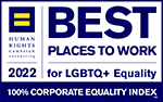 Best places to work for LGBTQ Equality, 100% Corporate Equality Index, 2020, Human Rights Campaign